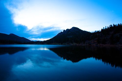 Last light at Lily Lake, Rocky Mountain NP, Colorado | by eleephotography
