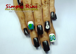 Nail Art Earth Hour 04 | by Simply Rins