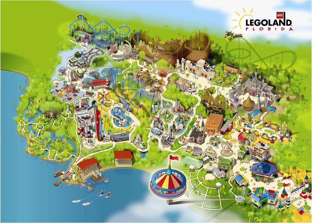 legoland florida map of park