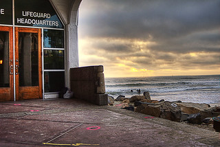 Lifeguard Headquarters Gloomy Sunset | by rod1691