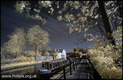 Lymm canalside, Cheshire UK Colour IR | by @HotpixUK -Add Me On Ipernity 500px
