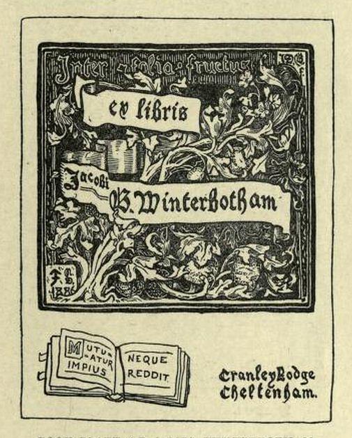 bookplate of james winterbotham by j d batten charmainezoe s