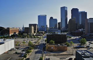 PART OF HOUSTON SKYLINE FROM A ROOFTOP | by Paulina Baezt