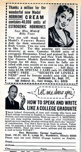 Estrogenic Hormone Cream / Let me show you how to speak and write like a college graduate 1969 | by Nesster