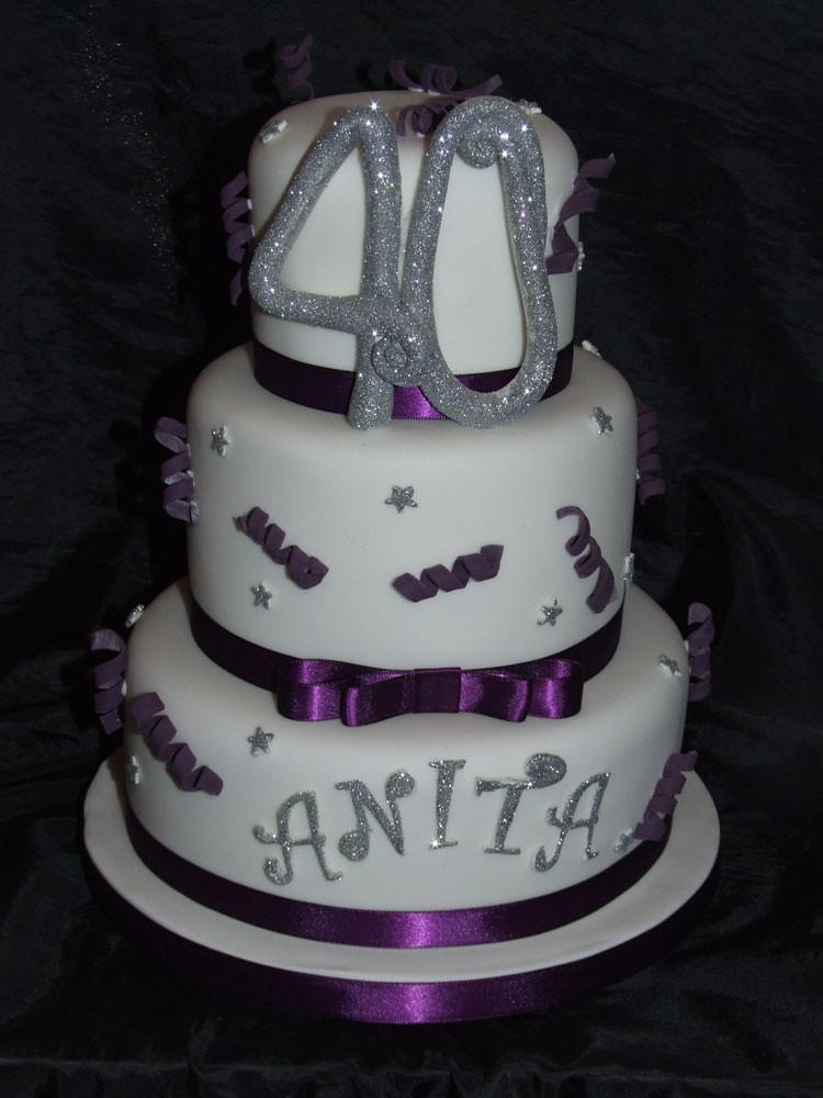anitas birthday cake Anitas 40th Birthday Cake by wwwca Flickr