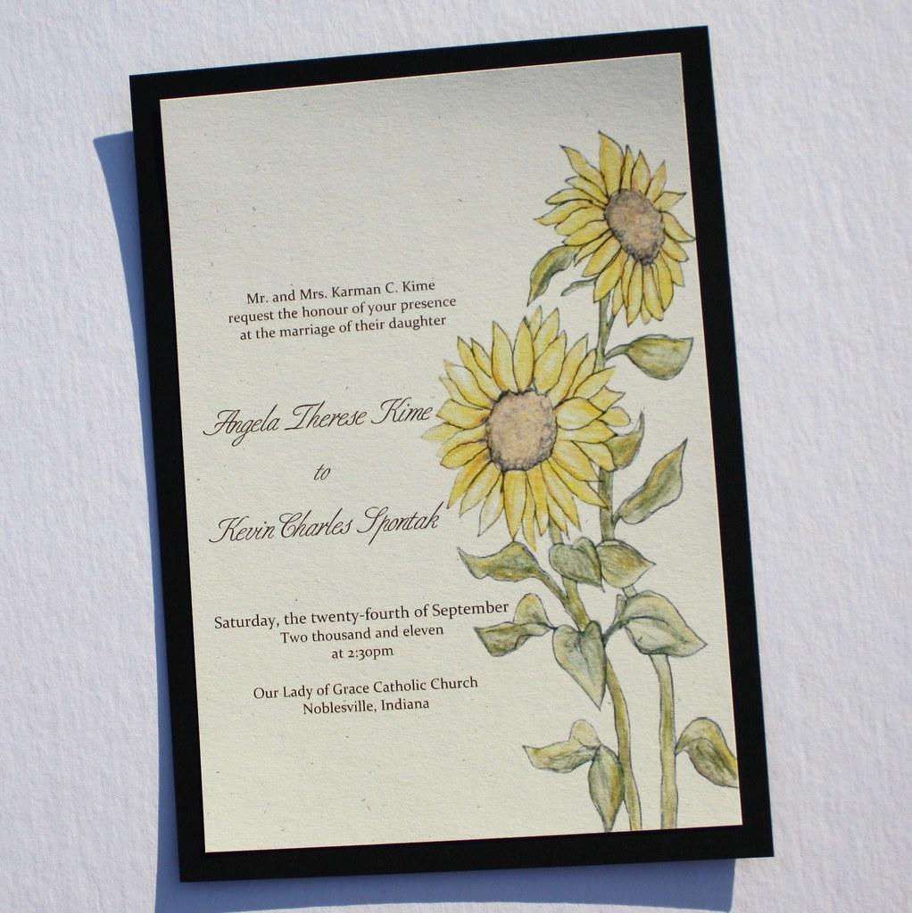 Angela & Kevin\'s Sweet Sunflowers Wedding Invitation Set   Flickr