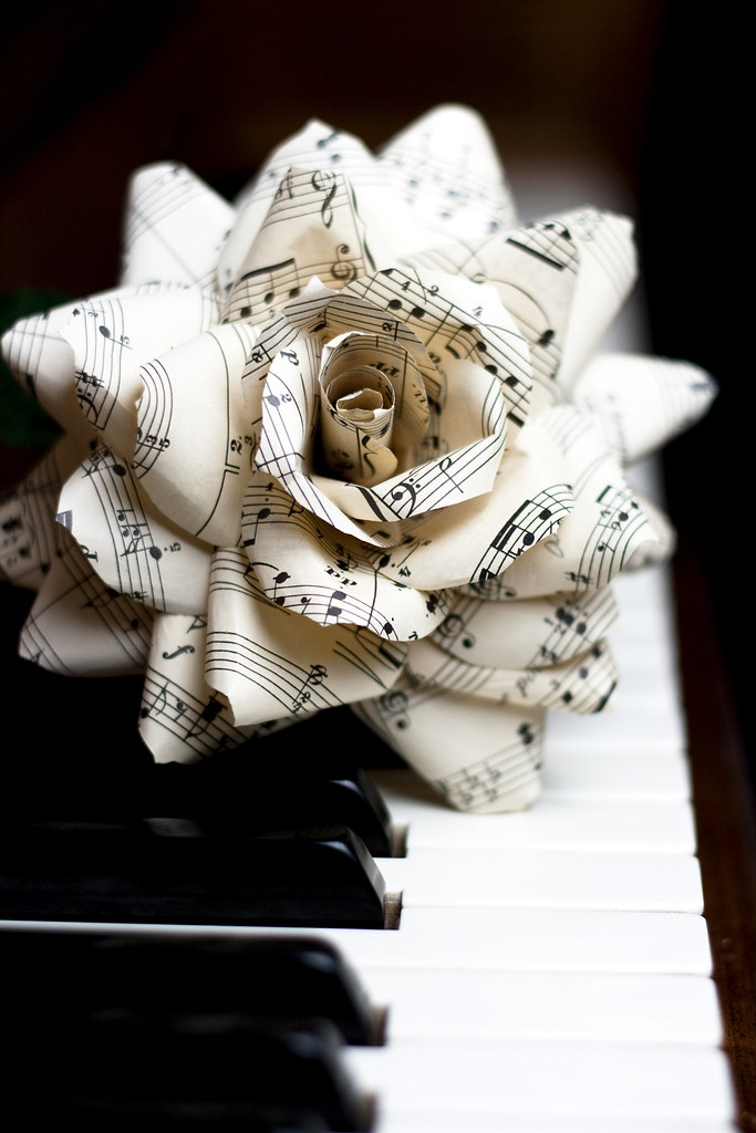 Handcrafted paper flower vintage sheet music rose flickr handcrafted paper flower vintage sheet music rose by thecrimsonpoppy mightylinksfo