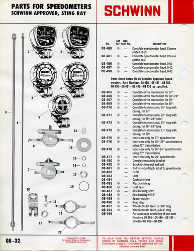 Schwinn Stingray Parts Catalog : Schwinn parts accessories catalog page