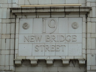 street sign, New Bridge Street, EC4 | by victorianlondon