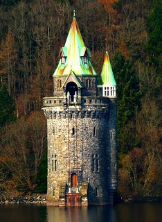 "The ""Straining Tower!"", Lake Vyrnwy, Wales. 
