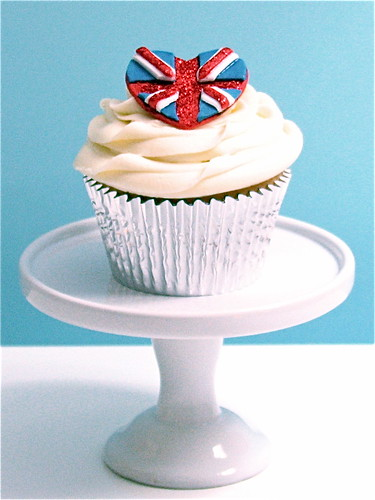 Union Jack Heart Cupcake | by gilly.flower / Gill Smith