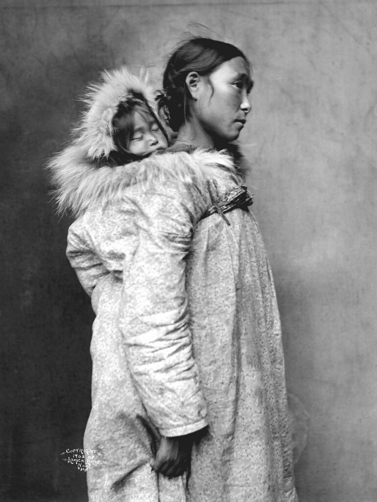inuit mother with baby image no nd 1 105 title inuit mot flickr