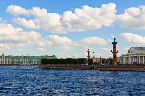 Old Saint Petersburg Stock Exchange and Rostral Columns | by carefulweb