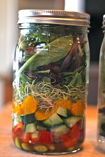 mason jar salads | by Krystaslifeinfood.com