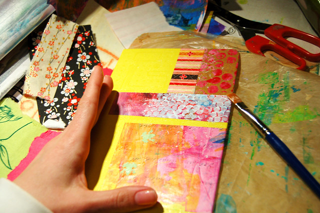 Pimp your Moleskine notebook by iHanna, Decoupage collage patchwork on Moleskine Notebook #moleskinehack
