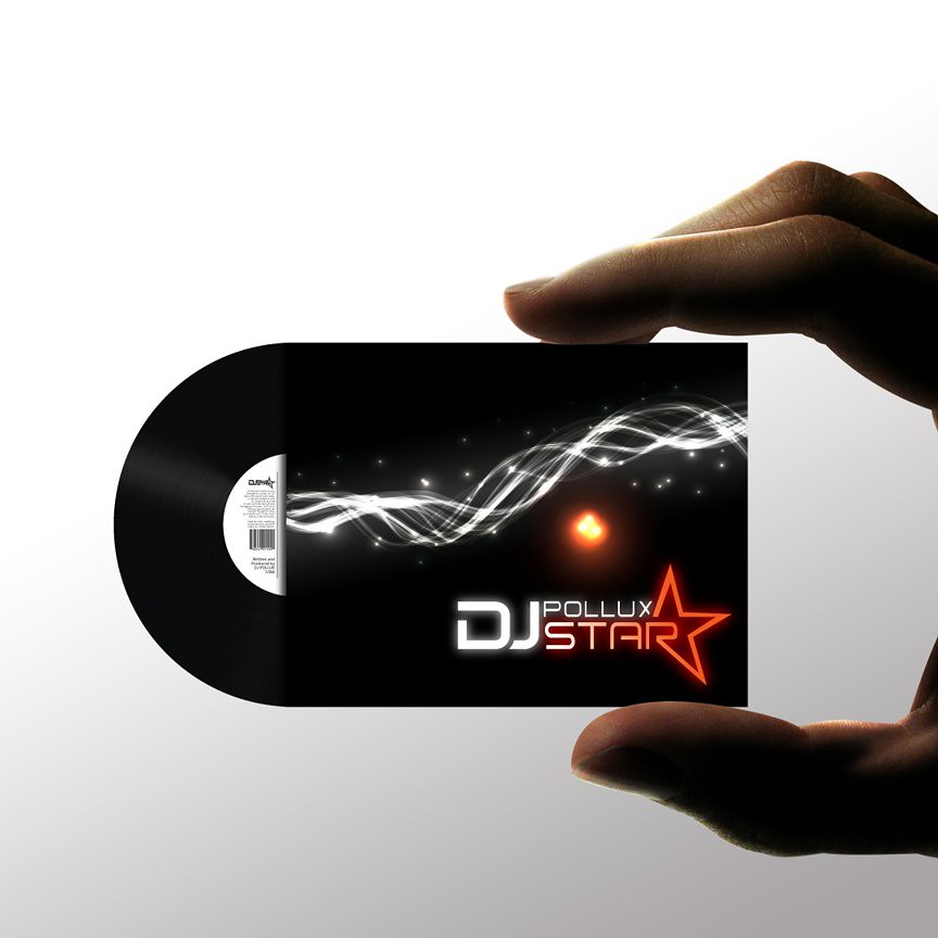 DJ Pollux Star Business Card | Half Moon Die Cut Business Ca… | Flickr