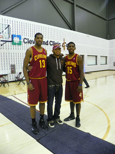 Tristan and Kyrie Post with Cavs Fan Joe Haden | by Cavs History