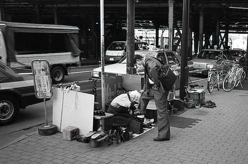 Shimbashi shoe shine | by The Fiery X-Scotsman