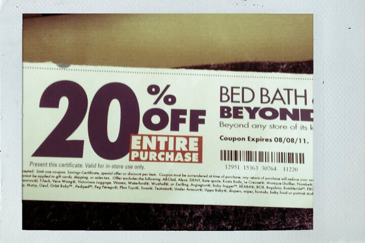 Also, Bed Bath and Beyond does price matching so if you see a better coupon  for any item, and BB B carries it, take it with you!Printable Coupon Used  ...