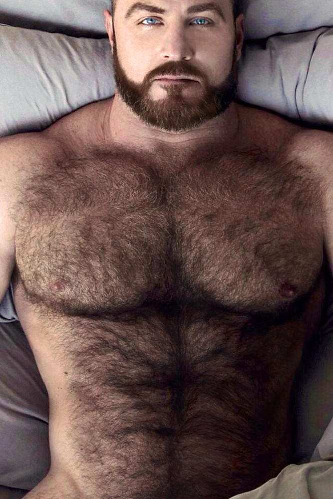 Hairy huge man