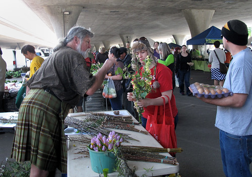 farmer's market nature guy sells flowers | by Robert Couse-Baker