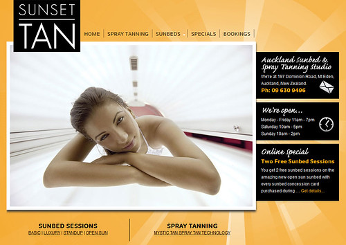 Tanning Studio Website | by Creative Web Ideas