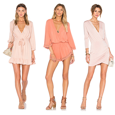 Blush Dresses from Revolve