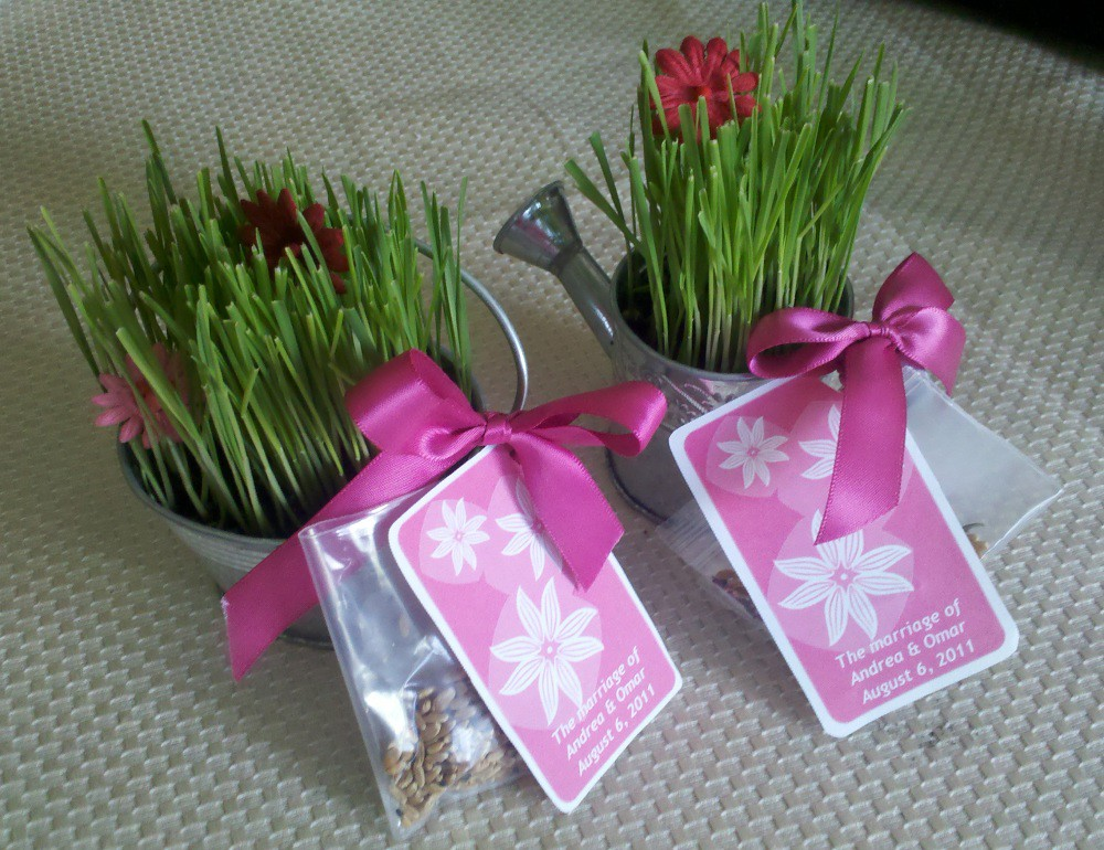 wheatgrass bridal shower favors by paix120