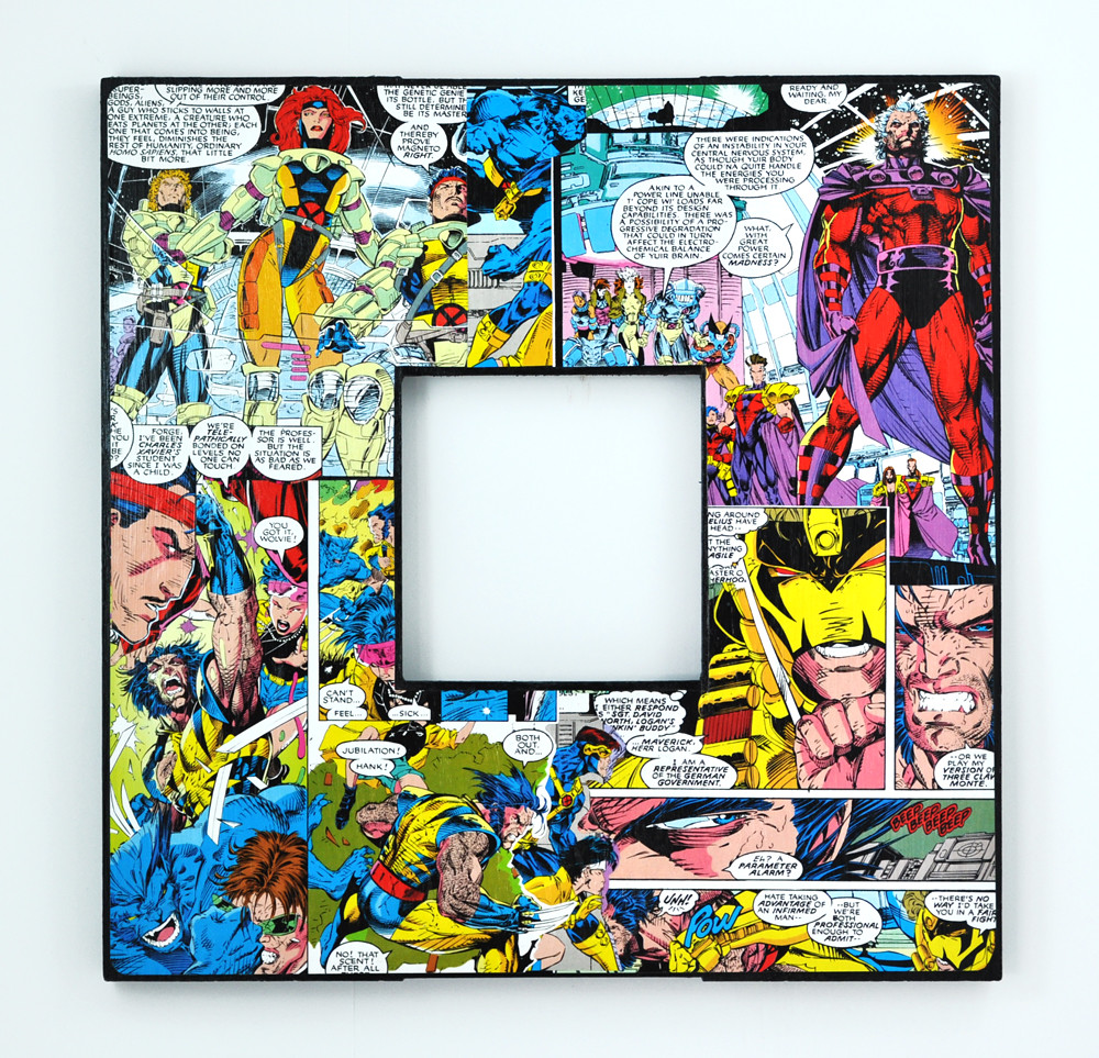 X-Men - Decoupaged Comic Book Frame | Decoupaged from real r… | Flickr