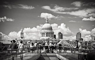 St. Paul's from the Millennium Bridge | by christopherdale