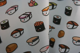 Sushi fabric by Kukubee (on organic sateen) | by Spoonflower Fabrics