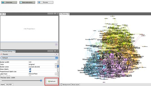 Gephi - preview refresh | by psychemedia