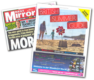 Published. Today's Daily Mirror - British Summer Guide | by s0ulsurfing