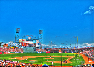 SF Giant Aubrey Huff Hits a Two-Run Homer on Opening Day, HDR… | by Walker Dukes