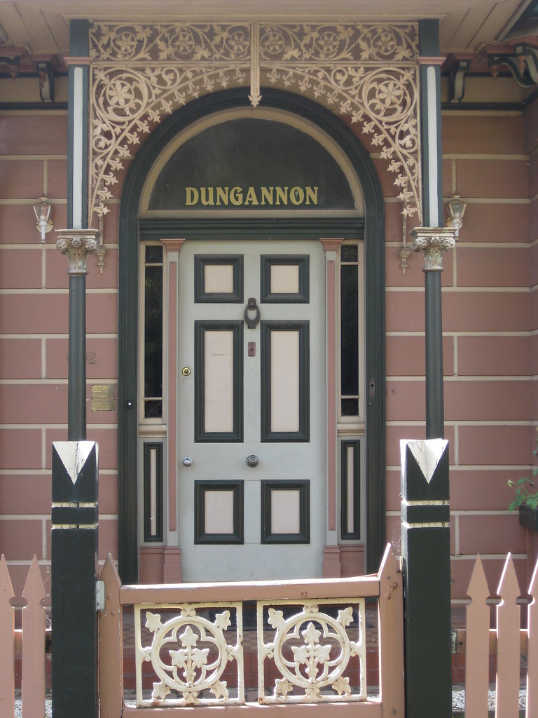 The Front Door Of Dungannon A Pictureque Victorian Gothic Villa