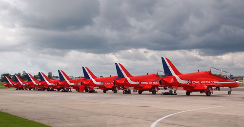 The Red Arrows, in perfect formation, even when on the ground and standing still! | by umbry101