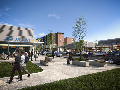 The District Retail & Hotel Renderings