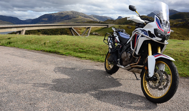 Africa Twin at Kylesku