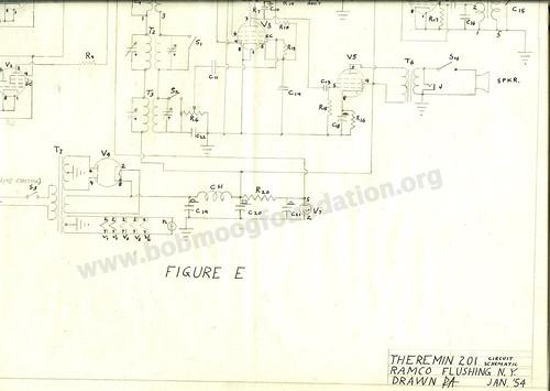 B F on Moog Theremin Schematic