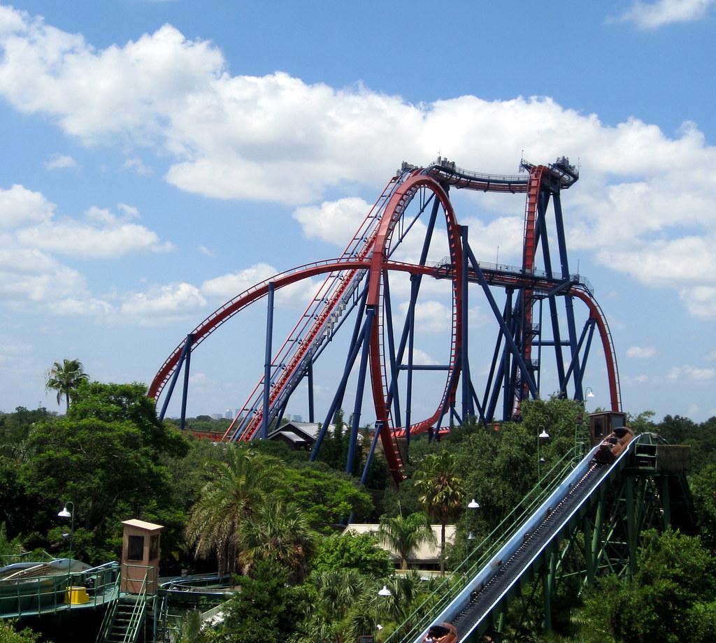 ... Busch Gardens   Skyride   View Of SheiKra Roller Coaster | By  Jared422_80
