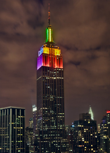 Rainbow Empire State Building | by Lisa Bettany {Mostly Lisa}