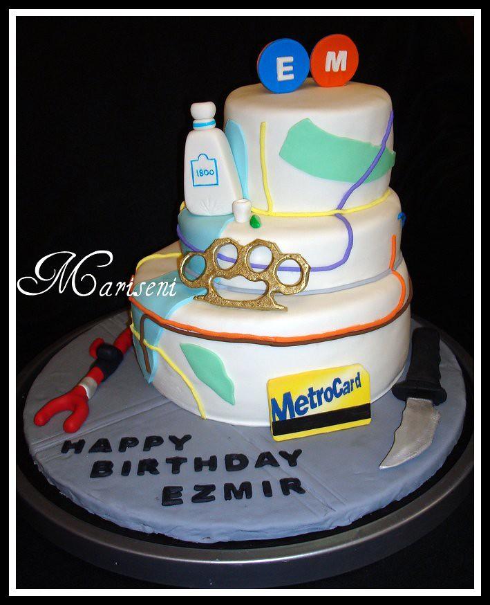 Nyc Subway Map Birthday Cake Birthday Cake Design Inspir Flickr