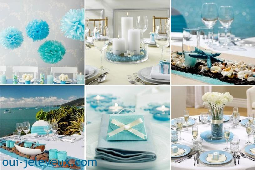 turquoise wedding decoration table centre   donciu.larisa   Flickr