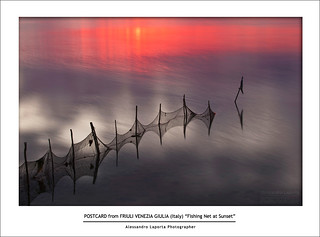 "Fishing Net at Sunset (First prize in the contest Obiettivo Laguna, category ""Marano and its Lagoon"") 