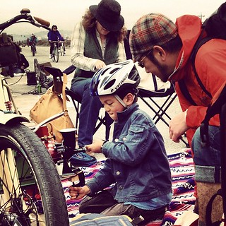 Declan grinding coffee at #sundaystreets #brannan | by calitexican