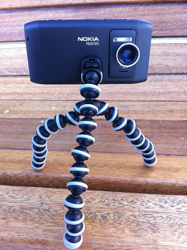 Nokia N8 with Wide Angle Lens and Joby Gorillapod | by stevegarfield