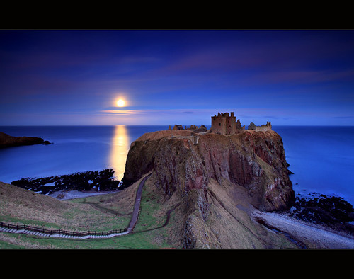 Moonrise Dunnottar Castle | by angus clyne