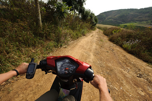 Rented Moto on a Dirt Road | by goingslowly