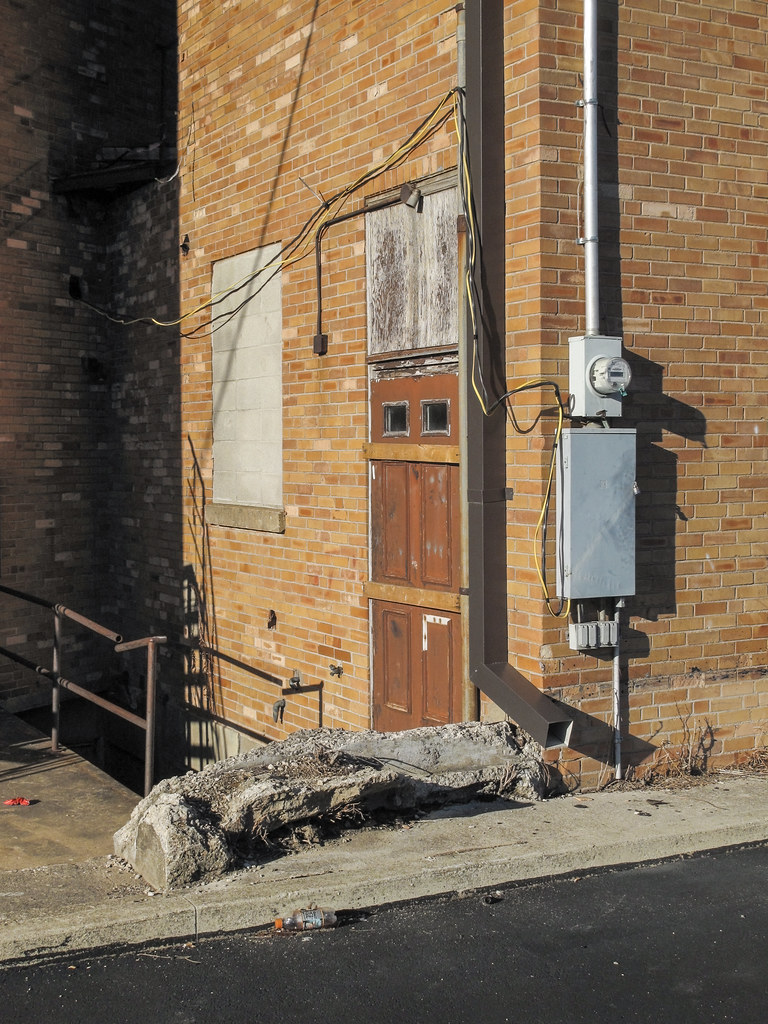 ... Barricaded door and heavy slab of petrified wood among cinderblocked-up window and big & Barricaded door and heavy slab of petrified wood among ciu2026 | Flickr