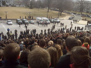 Large crowd of staffers gathering to honor the fallen | by bomble